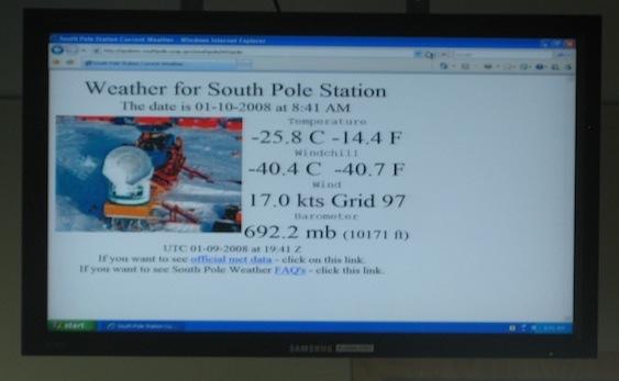 Amundsen-Scott temperatura