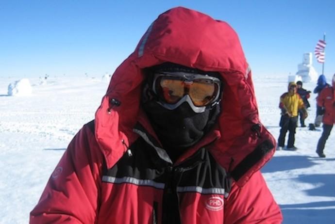José Antonio Ruiz en el Polo Sur