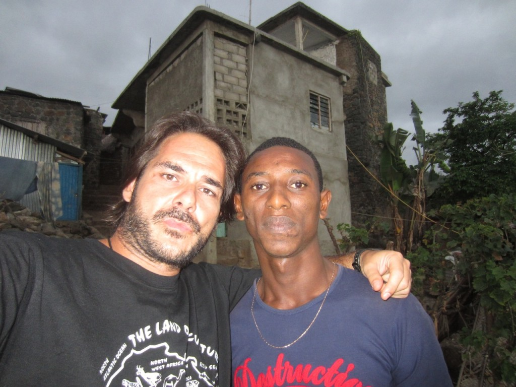 Con amigo en Moya, Anjouan, Comoras