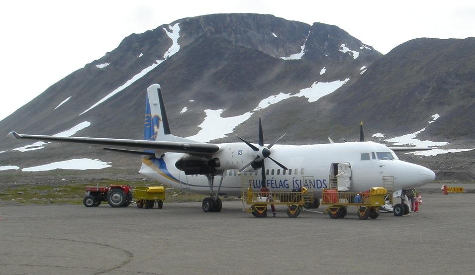 Avión en Kulusuk