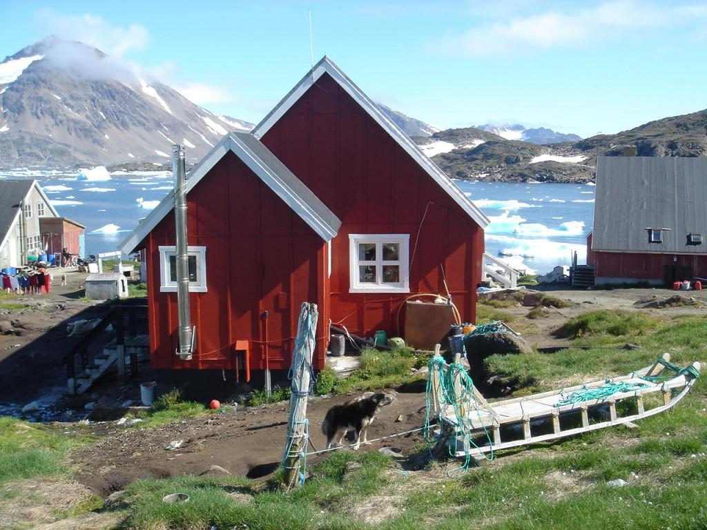 Casa y trineo Groenlandia