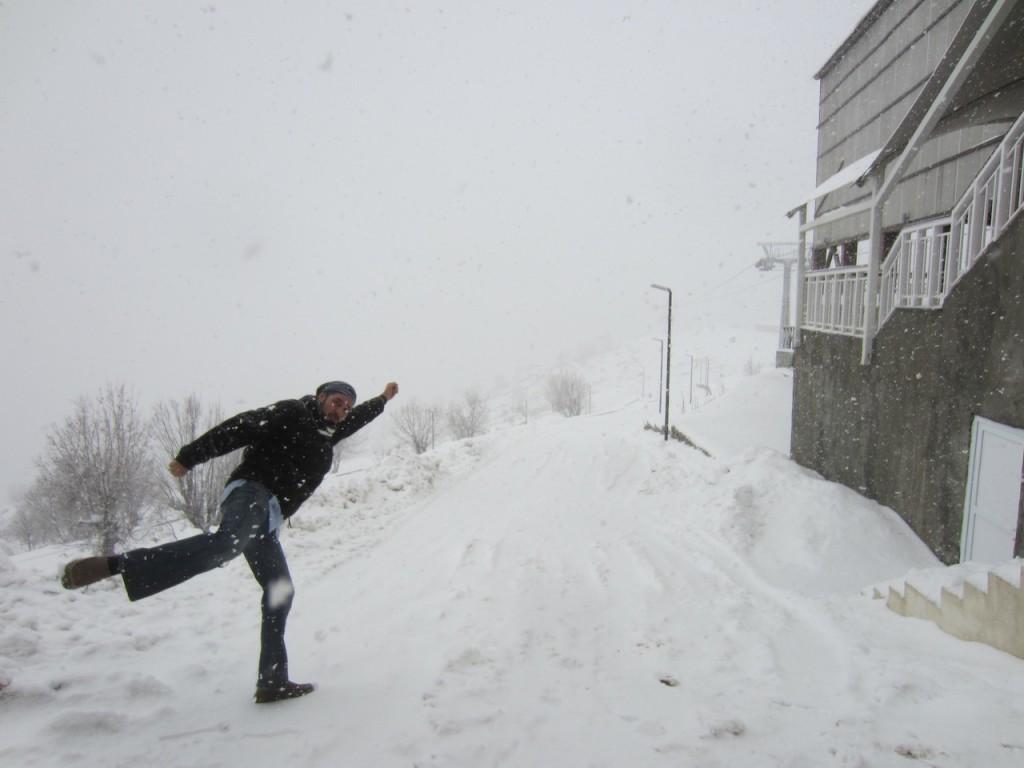 Nevando en Irak