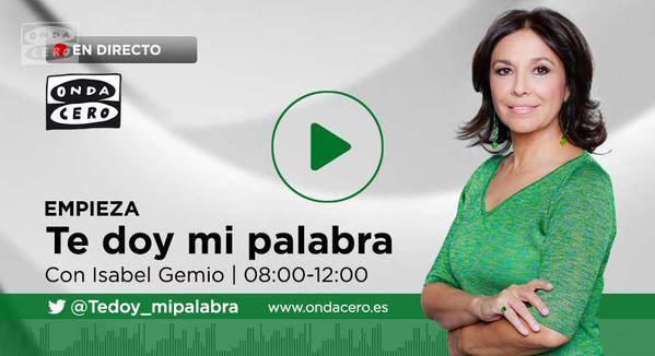 ¡¡Proyecto Mzungu en Onda Cero radio este sábado con Isabel Gemio!!